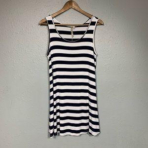 COMFY USA Striped Tunic Dress Sleeveless Size S